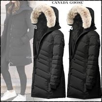 CANADA GOOSE LORETTE Blended Fabrics Plain Long Down Jackets