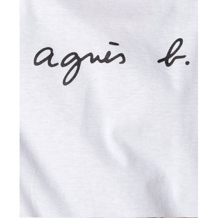 Agnes b Crew Neck Crew Neck Unisex Plain Cotton Short Sleeves 17