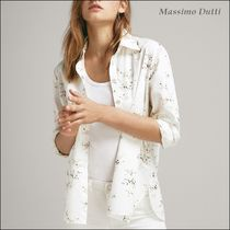 Massimo Dutti Flower Patterns Long Sleeves Cotton Medium Shirts & Blouses