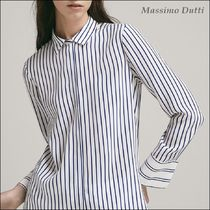 Massimo Dutti Stripes Silk Long Sleeves Medium Shirts & Blouses