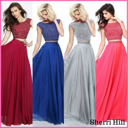 Crew Neck Maxi Sleeveless Plain Long Dresses
