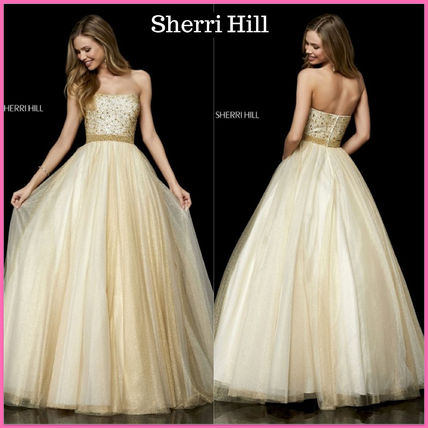 Maxi Sleeveless Long Wedding Dresses