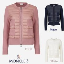 MONCLER Crew Neck Wool Blended Fabrics Long Sleeves Plain Medium