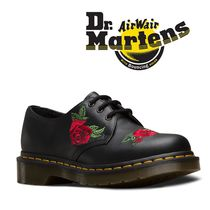 Dr Martens Flower Patterns Casual Style Leather Ankle & Booties Boots