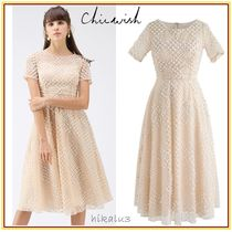 Chicwish A-line U-Neck Medium Short Sleeves Party Style Dresses
