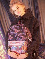 Entre Reves Flower Patterns Casual Style Street Style A4 Backpacks