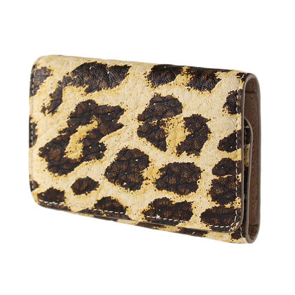 Leopard Patterns Leather Keychains & Bag Charms