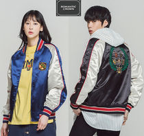 ROMANTIC CROWN Unisex Street Style Souvenir Jackets