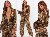 Missguided Leopard Patterns Gowns Shirts & Blouses