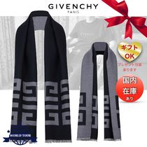 GIVENCHY Unisex Wool Fringes Scarves