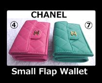 CHANEL MATELASSE Unisex Leather Folding Wallet Small Wallet Folding Wallets