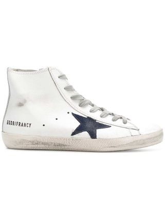 Star Bi-color Leather Low-Top Sneakers