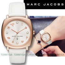 MARC JACOBS Leather Square Quartz Watches Analog Watches