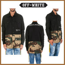 Off-White Camouflage Street Style Long Sleeves Cotton Khaki Shirts