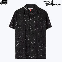 Ron Herman Star Tropical Patterns Unisex Cotton Short Sleeves Handmade