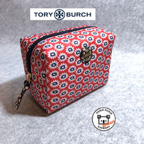 Tory Burch Flower Patterns Nylon Pouches & Cosmetic Bags