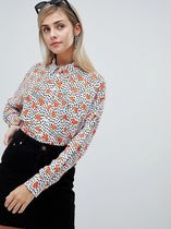 ASOS Heart Casual Style Long Sleeves High-Neck Shirts & Blouses