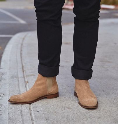 great prices wide selection 100% high quality ALDO 2018-19AW Plain Toe Plain Leather Chelsea Boots Oversized Shoes