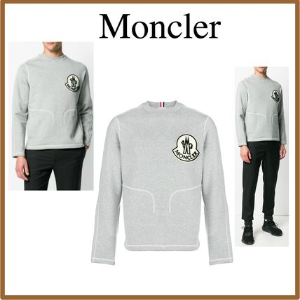 MONCLER Sweatshirts Crew Neck Sweat Long Sleeves Sweatshirts