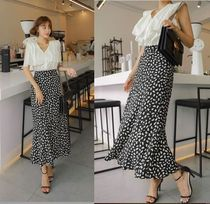 TOM&RABBIT Flared Skirts Casual Style Long Maxi Skirts