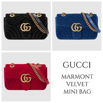 4b482c212e61 GUCCI GG Marmont Heart Casual Style Chain Shoulder Bags