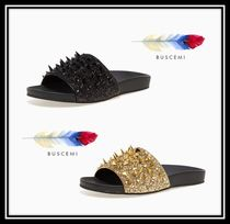 J75 by JUMP Faux Fur Plain Sandals