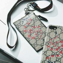 GUCCI Canvas Card Holders