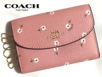 Coach Flower Patterns PVC Clothing Keychains & Bag Charms
