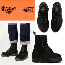Dr Martens Unisex Suede Street Style Collaboration Plain Engineer Boots