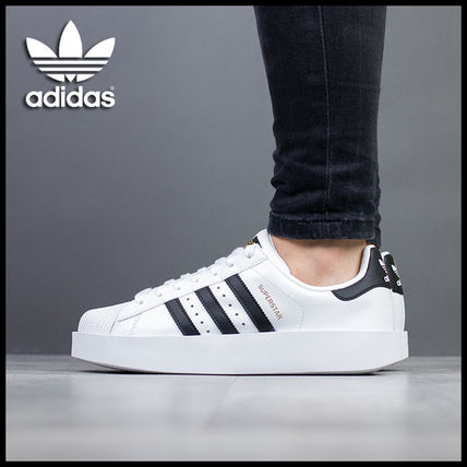 new product 54904 1f63a adidas SUPERSTAR 2018-19AW Platform Platform & Wedge Sneakers (BA7666)