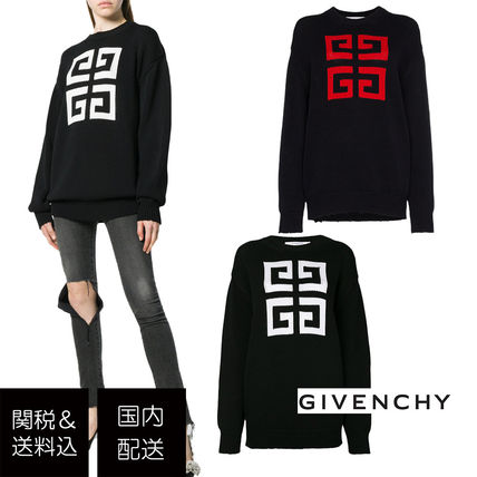 Crew Neck Casual Style Long Sleeves Cotton Long Sweaters