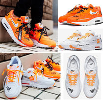 Nike AIR MAX 1 Casual Style Unisex Street Style Leather Low-Top Sneakers