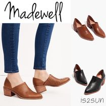 Madewell Casual Style Plain Leather Block Heels Ankle & Booties Boots