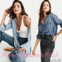 Abercrombie & Fitch Casual Style Long Sleeves Plain Medium Shirts & Blouses