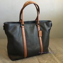 Coach A4 Bi-color Leather Totes