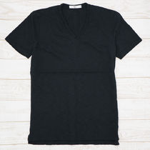 V-Neck Plain Cotton Short Sleeves V-Neck T-Shirts