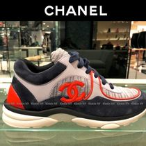 CHANEL Round Toe Casual Style Unisex Blended Fabrics Street Style