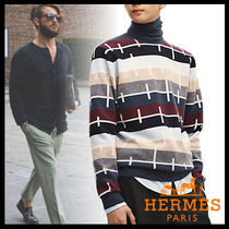 HERMES Pullovers Cashmere Long Sleeves Knits & Sweaters