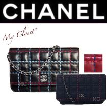 CHANEL ICON Other Check Patterns Calfskin Street Style 2WAY Chain