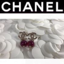 CHANEL Costume Jewelry Blended Fabrics Silver With Jewels