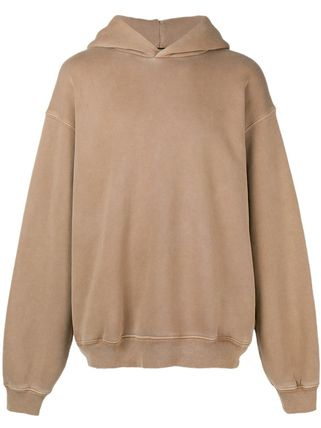 Yeezy Hoodies Pullovers Street Style Long Sleeves Plain Cotton Oversized 2