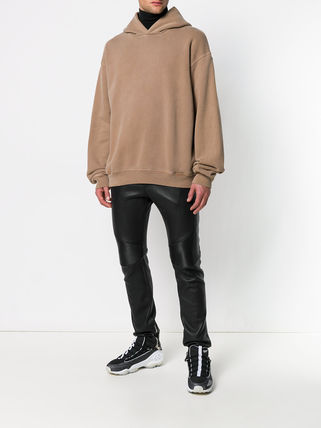 Yeezy Hoodies Pullovers Street Style Long Sleeves Plain Cotton Oversized 3