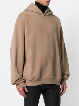 Yeezy Hoodies Pullovers Street Style Long Sleeves Plain Cotton Oversized 4