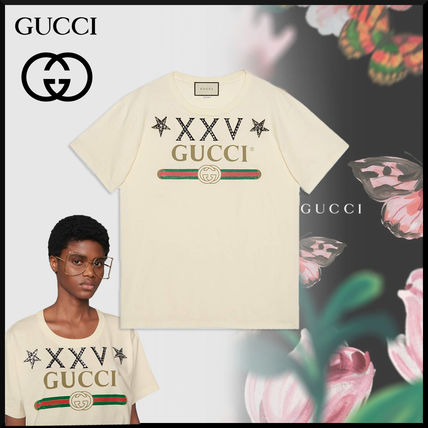 d7c8fa08e ... GUCCI T-Shirts Crew Neck Cotton Short Sleeves Oversized T-Shirts ...