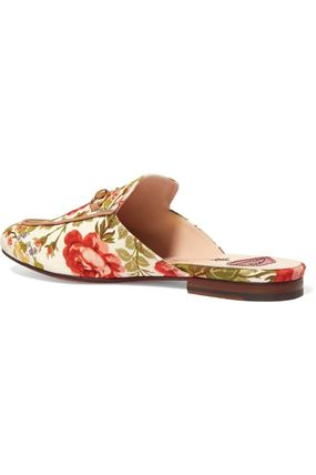 f216f1163db9 GUCCI More Sandals Flower Patterns Star Blended Fabrics Collaboration  Leather 7 ...