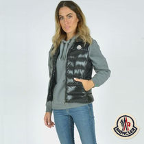 MONCLER GHANY Short Casual Style Street Style Plain Vest Cardigans