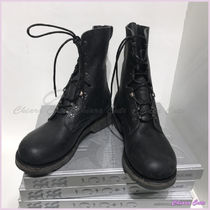 Maison Martin Margiela Plain Toe Plain Engineer Boots