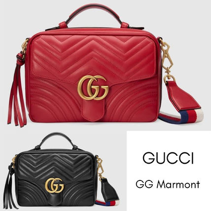 088971fb45c8 ... GUCCI Shoulder Bags Heart Casual Style Blended Fabrics Leather Shoulder  Bags ...