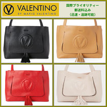 Mario Valentino Tassel A4 Leather Office Style Totes