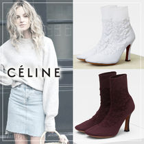 CELINE Plain Pin Heels Ankle & Booties Boots